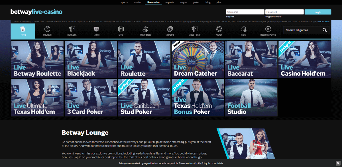 Betway Casino Screenshot 3
