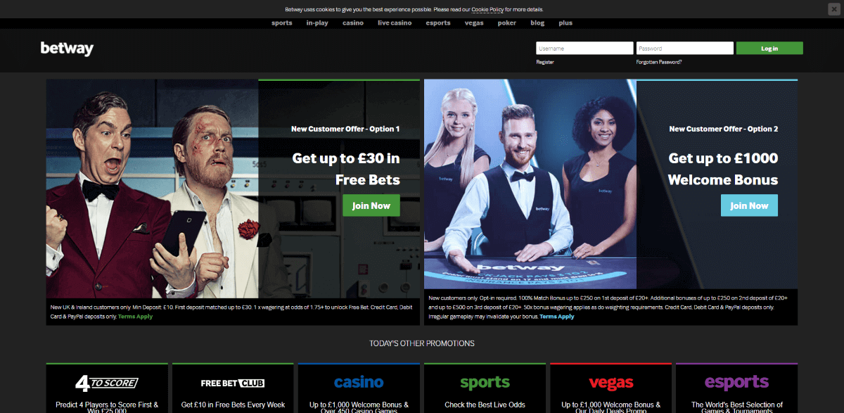 Betway Casino Screenshot 1