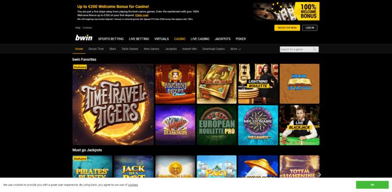 Bwin Casino Screenshot 3