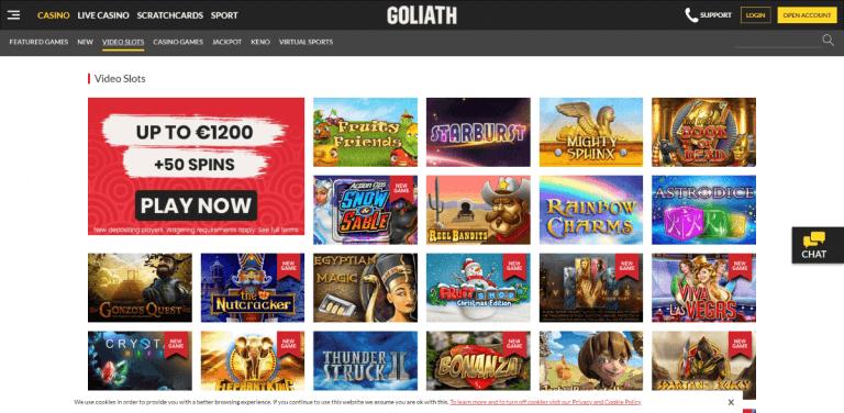 Goliath Casino Screenshot 2