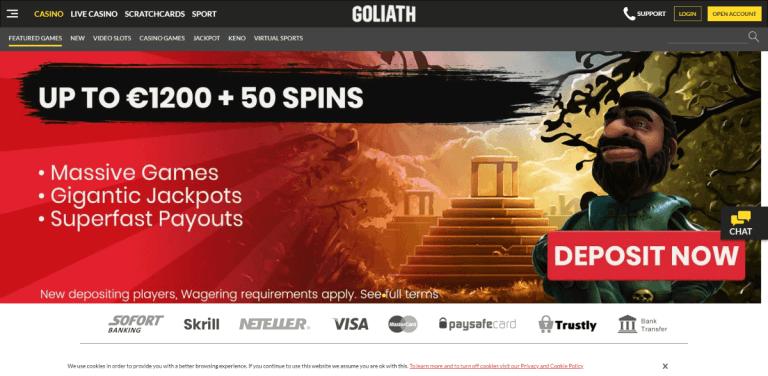Goliath Casino Screenshot 1