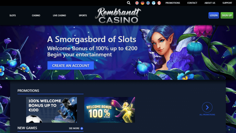 Rembrandt Casino Screenshot 1