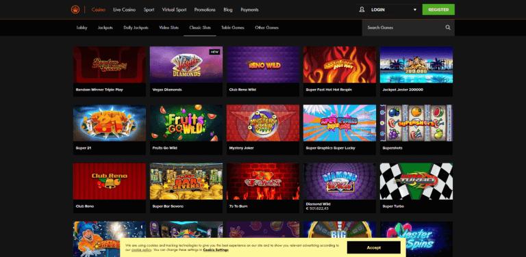 Kroon Casino Screenshot 2