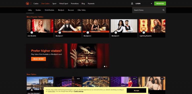 Kroon Casino Screenshot 3