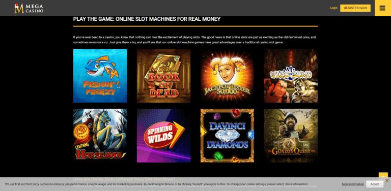 Mega Casino Screenshot 2