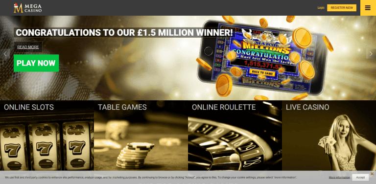 Mega Casino Screenshot 1