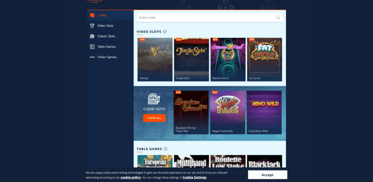 Oranje Casino Screenshot 2
