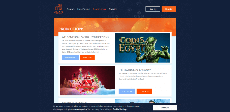 Oranje Casino Screenshot 3