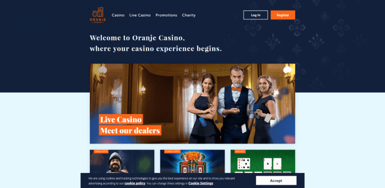 Oranje Casino Screenshot 1