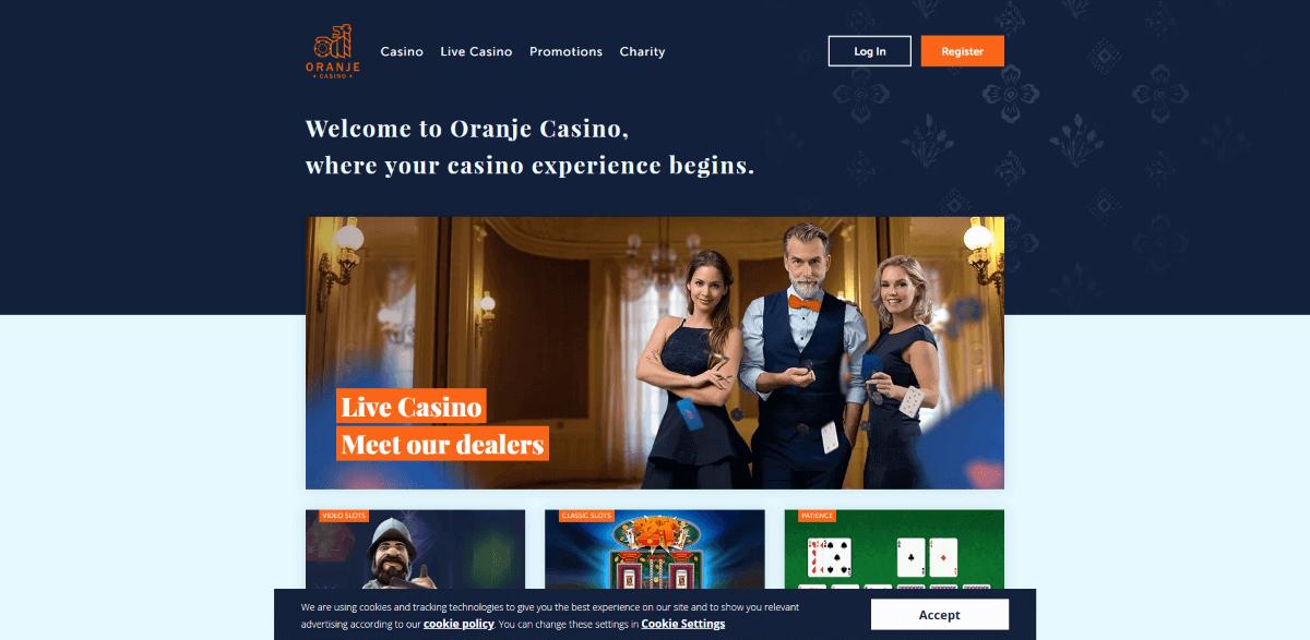 Oranje Casino Screenshot 1