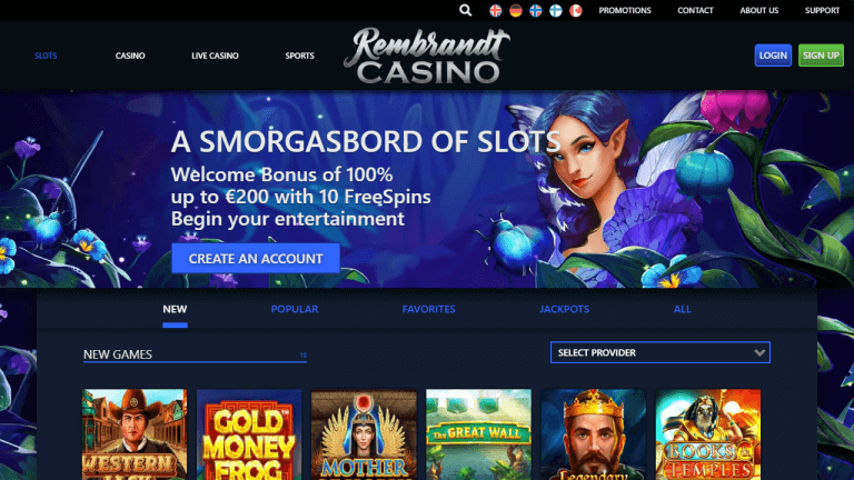 Rembrandt Casino Screenshot 2