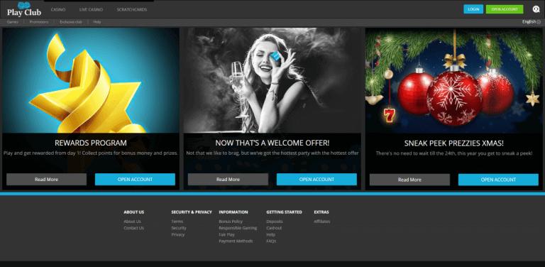 PlayClub Casino Screenshot 3