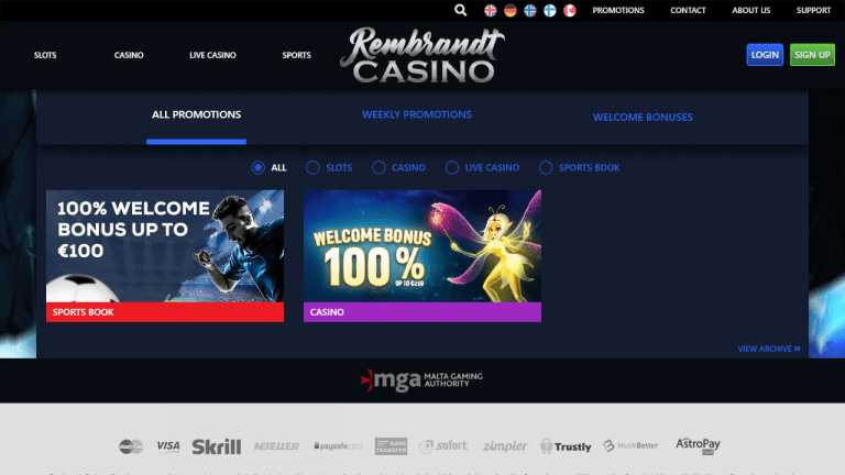 Rembrandt Casino Screenshot 3