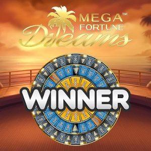 Mega Fortune Dreams logo achtergrond