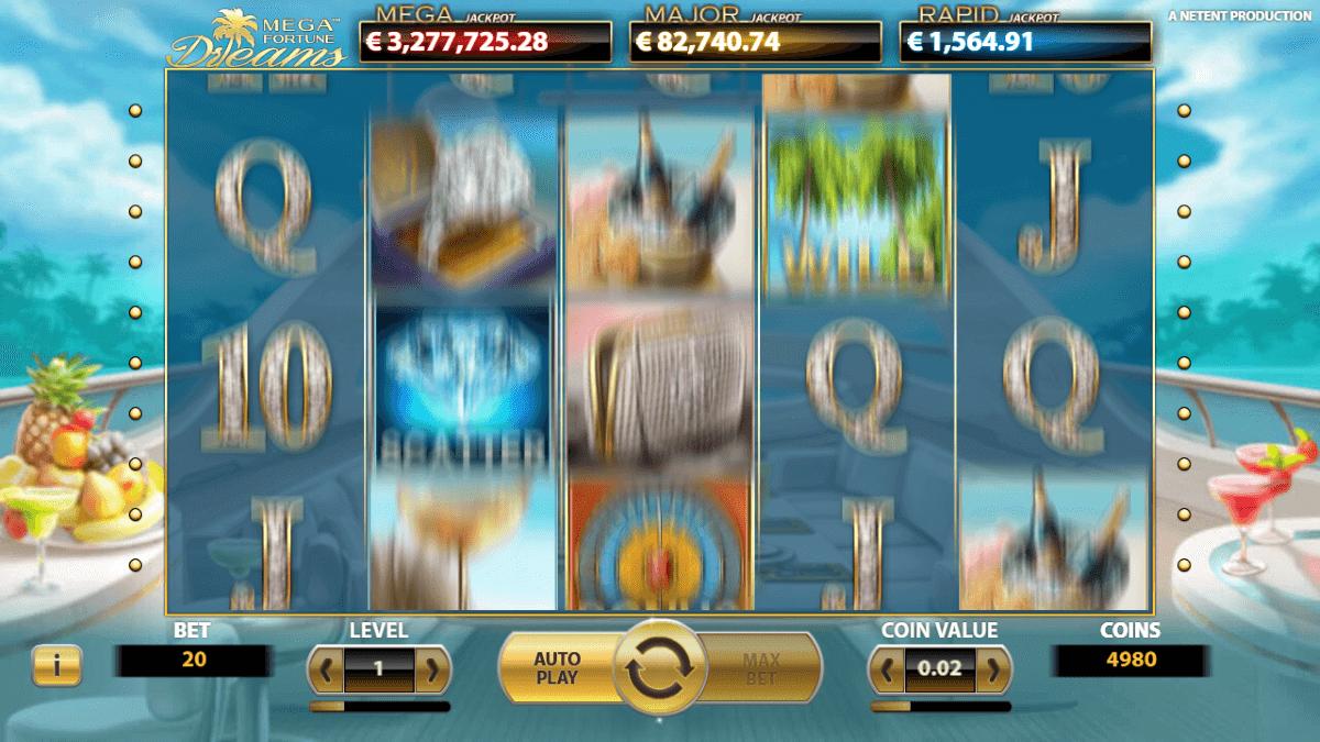 Mega Fortune Dreams Gratis Spins
