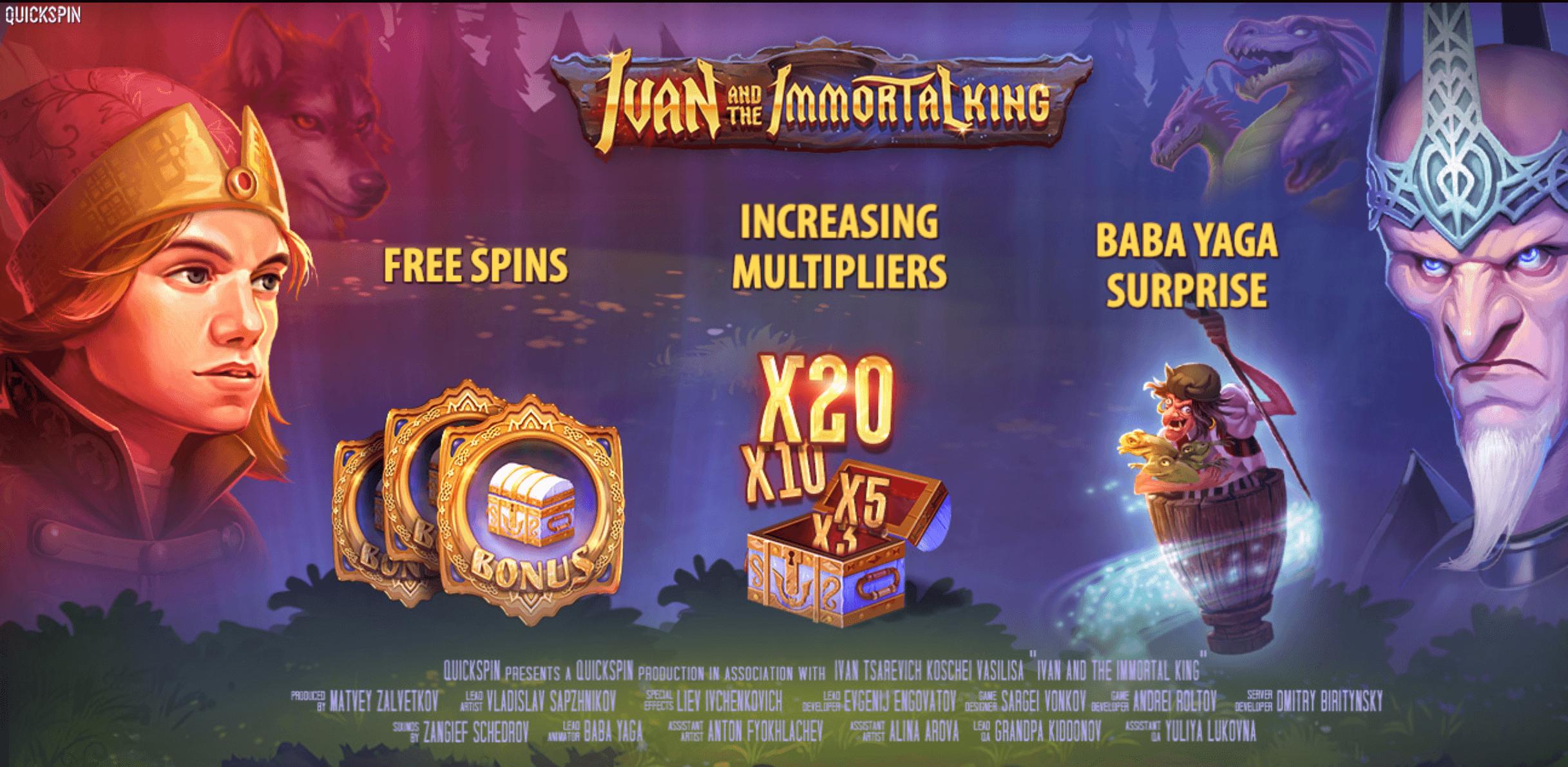 Quickspin eindigt 2018 met Ivan and the Immortal King gokkast!