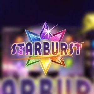 Starburst logo achtergrond