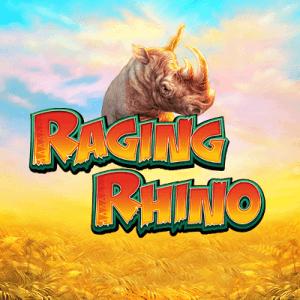 Raging Rhino logo achtergrond