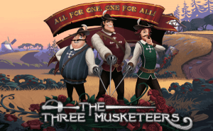 The Three Musketeers logo achtergrond
