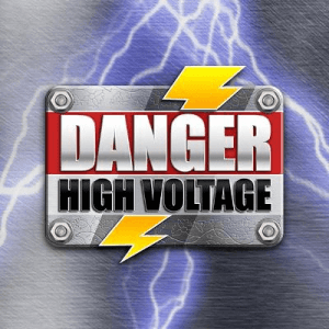 Danger High Voltage logo achtergrond