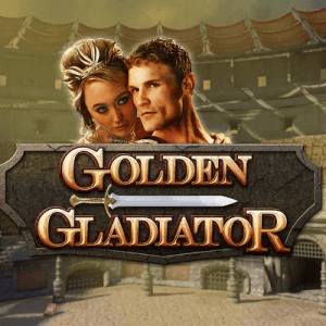 Golden Gladiator logo achtergrond