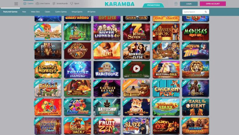Karamba Casino Screenshot 2