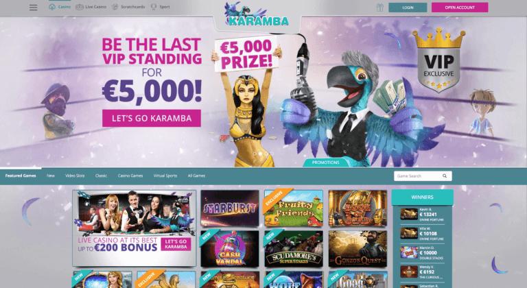 Karamba Casino Screenshot 1