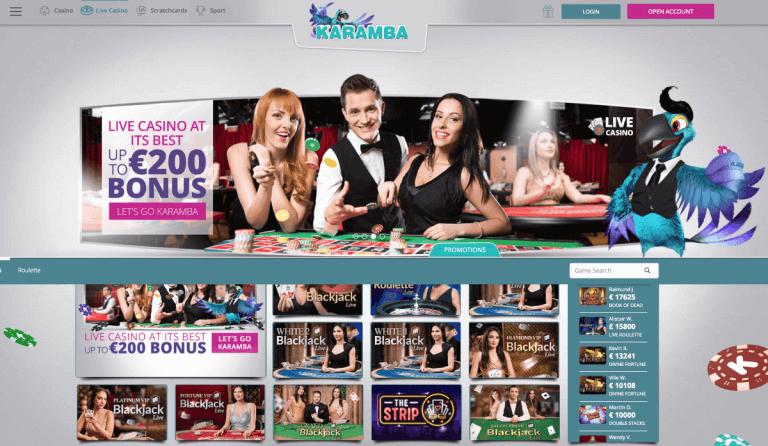 Karamba Casino Screenshot 3