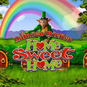 Rainbow Riches Home Sweet Home logo achtergrond