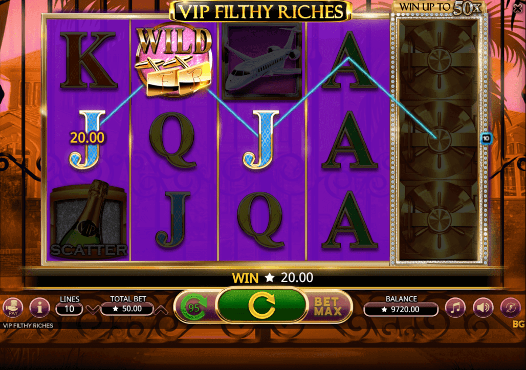 VIP Filthy Riches Gratis Spins