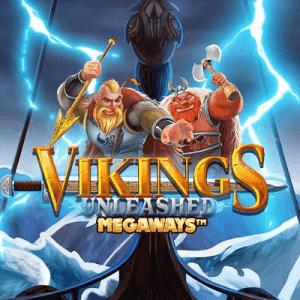 Vikings Unleashed Megaways logo achtergrond