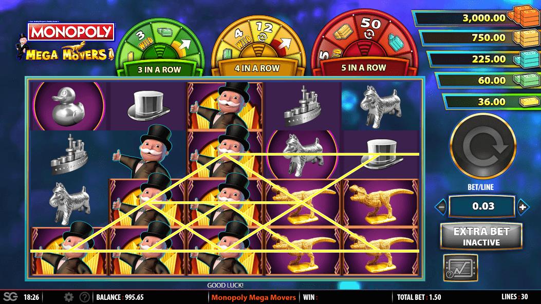 Monopoly Mega Movers gratis spins