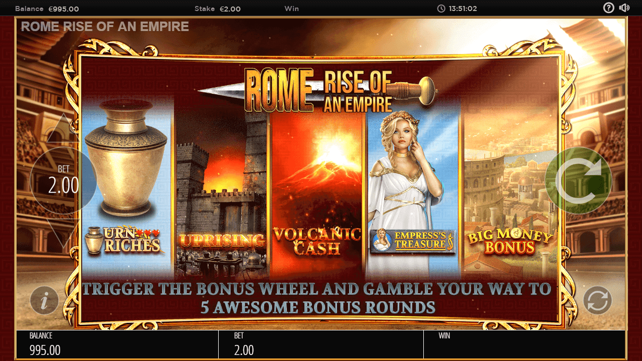 Rome: Rise Of An Empire Gratis Spins