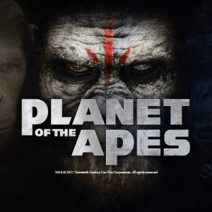 Planet Of The Apes logo achtergrond