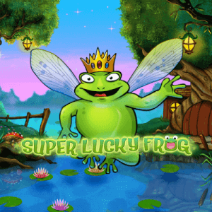 Super Lucky Frog logo achtergrond