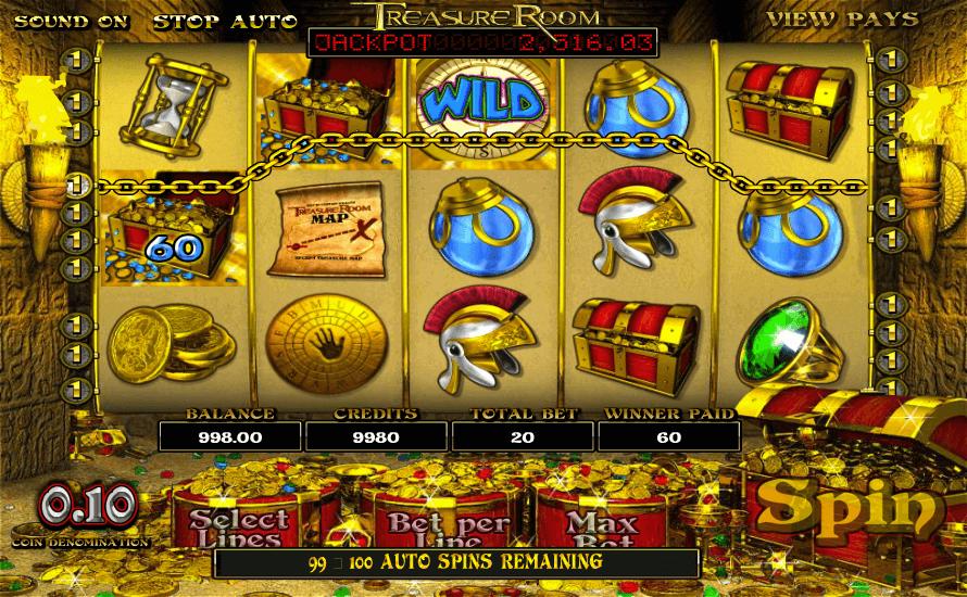 Treasure Room Gratis Spins
