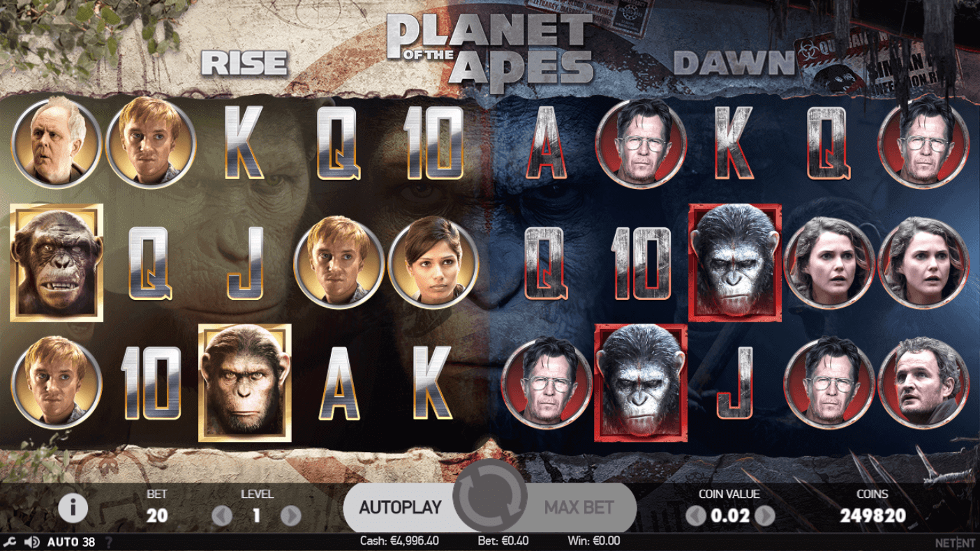 Planet Of The Apes Gratis Spins