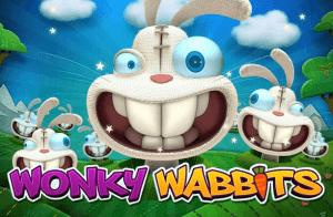 Wonky Wabbits logo achtergrond