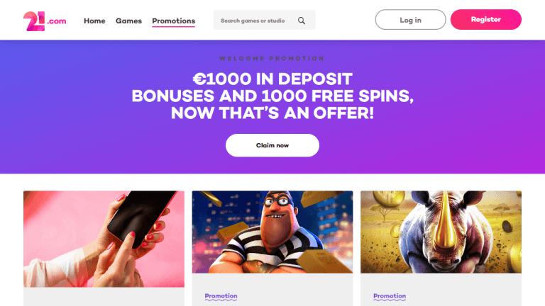 21.com Casino Screenshot 3