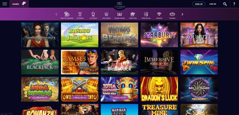 Genesis Casino Screenshot 2