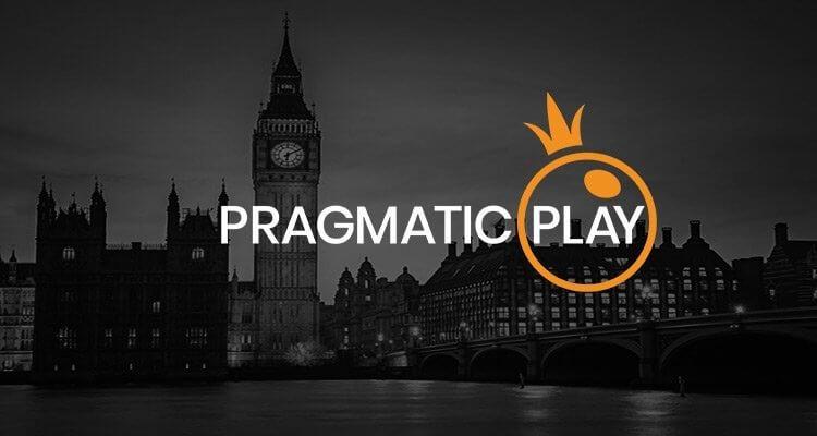 pragmatic play logo met london achtergrond