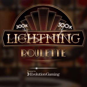 Lightning Roulette logo achtergrond