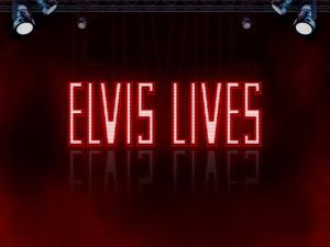 Elvis Lives logo achtergrond