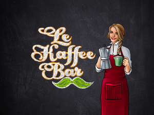 Le Kaffee Bar logo review