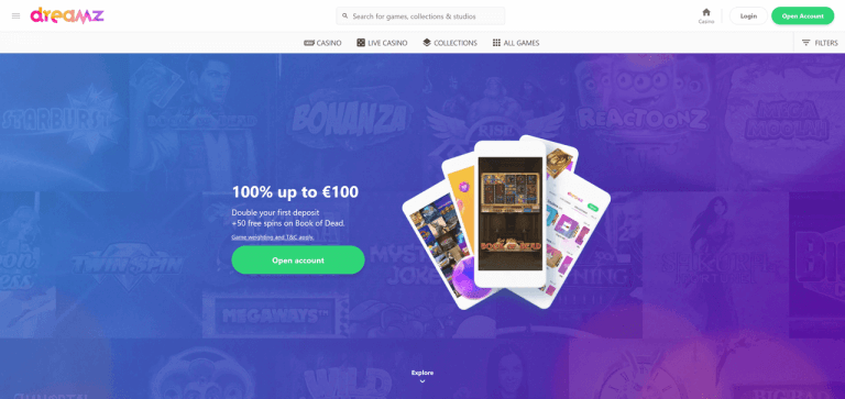 Dreamz Casino Screenshot 1