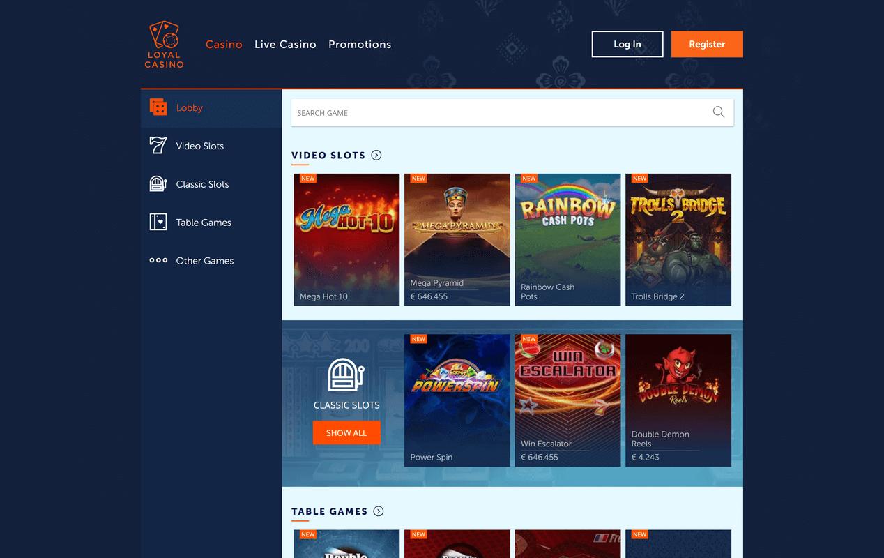 Loyal Casino Screenshot 3