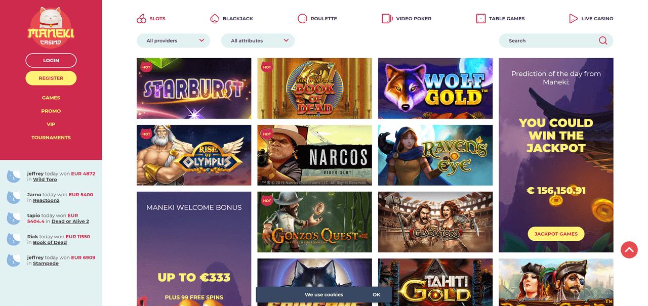 Maneki Casino Screenshot 2