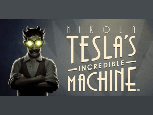 Nikola Tesla's Incredible Machine logo achtergrond