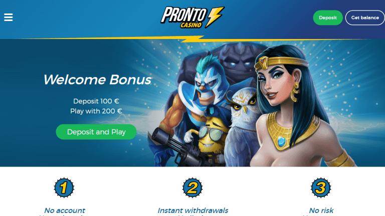 Pronto Casino Screenshot 1