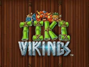 Tiki Vikings logo achtergrond